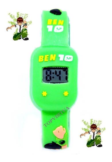Relógio Infantil Ben10 Digital 3d Verde Limão Lançamento