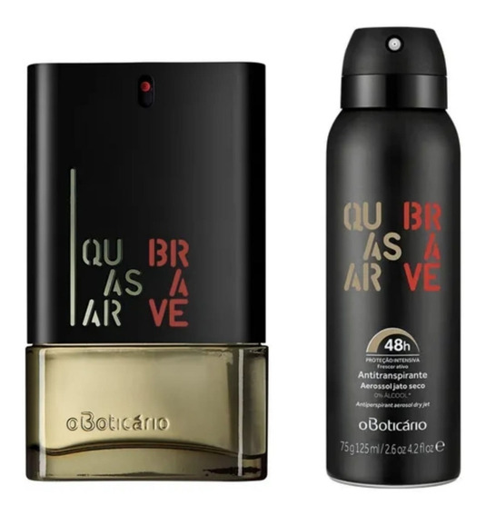 Perfume Masculino Quasar Brave + Aerossol O Boticário