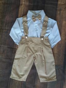 Conjunto Menino Batizado Bebê Infantil