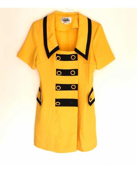 Mono Corto Amarillo Tipo Traje Mujer Vintage