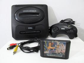 Mega Drive Completo Com Saida Para Sega Cd !