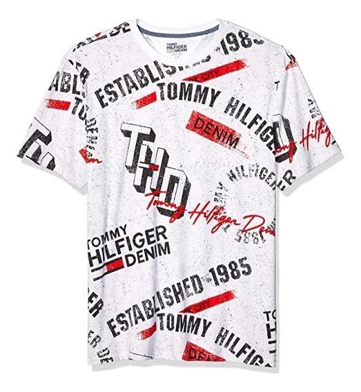 Tommy Hilfiger Remera Denim Burnquist P/hombre Talle L, Usa