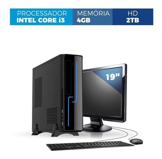 Computador Corporate Slim I3 4gb 2tb Kit Monitor 19