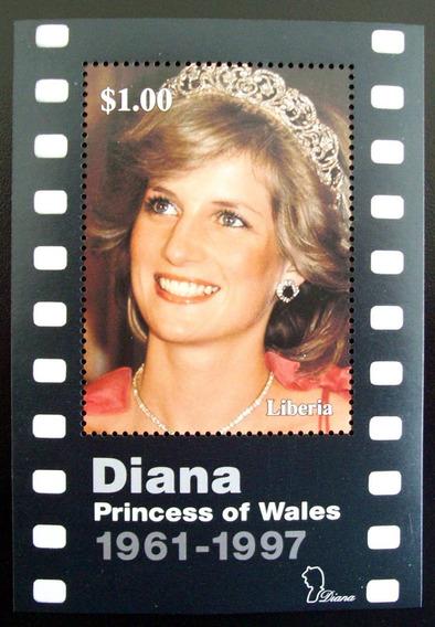 Liberia, Princesa Diana Bloque 1 Sello 2007 Mint L5635