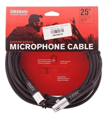 Imagen 1 de 2 de Planet Waves Custom Series Cable Xlr De 7,5m Para Micrófono