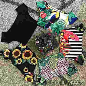 Kit 10 Cropped Feminino Ciganinha
