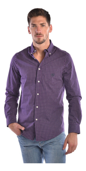 Camisa Stretch Fit Chaps Violeta 750722889-34jy Hombre