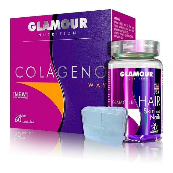 Kit Hair Skin 60 Caps + Colágeno Way + Brinde - Midway
