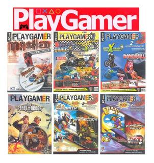 Play Gamer 6 Revistas + Cd Rom Jogos Completos Para Pc