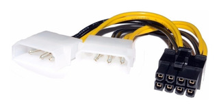 Cable Adaptador 2 Molex A Pci E 8 Pines Placas De Video #51