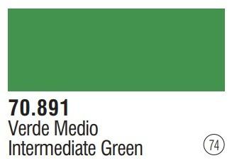 Tinta  Intermediategreen 70891 Model Color Vallejo Modelismo