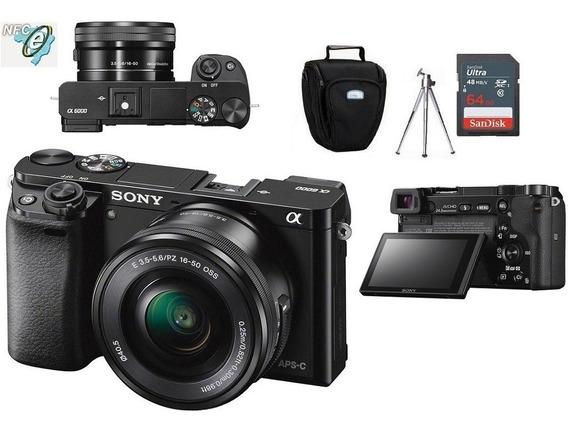 Sony A6000 16-50mm + Bolsa+tripé+cartão 64gb Nota Fiscal