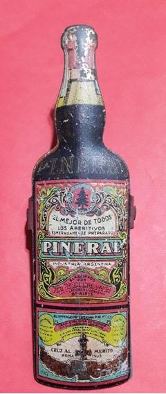 Antigua Manito Sujeta Papel C/ Publicidad Aperitivo Pineral