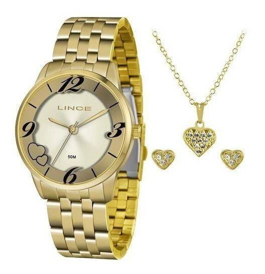 Kit Relógio Lince Feminino - Modelo: Lrg4604l Kw05