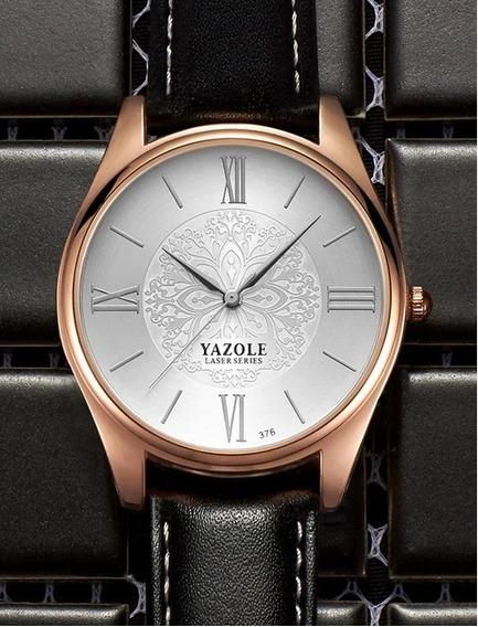 Relógio Masculino Yazole 376 Luxuoso Pronta Entrega