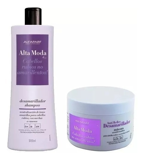 Alfaparf Alta Moda E Mascara + E Shampoo Anti Reflex Combo