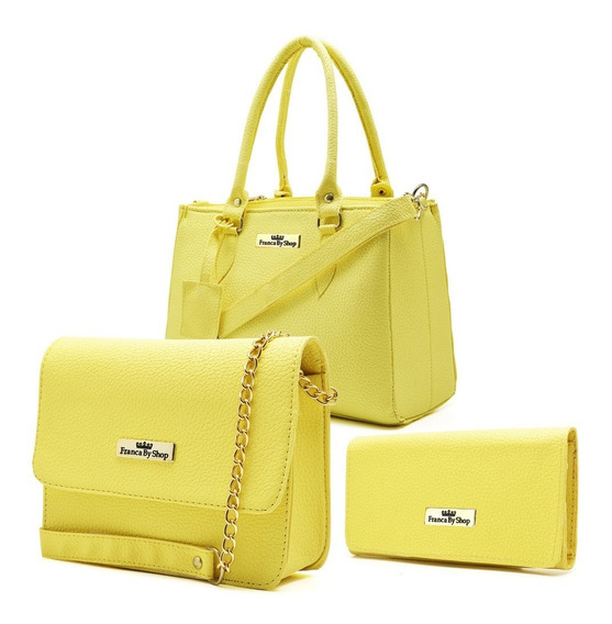 Kit 2 Bolsa Feminina Lateral + Carteira Fashion