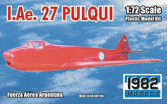 Maqueta Para Armar De Avión Fma I.ae. 27 Pulqui (1/72)