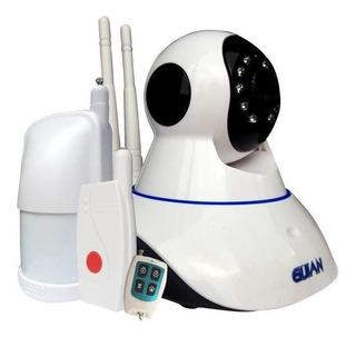 Kit Camara Ip Y Alarma Con Sensores Hd Wifi Seguridad P2p