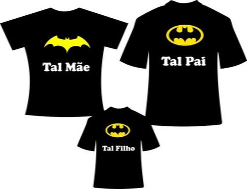 Imagem 1 de 3 de Camisetas Tal Pai Tal Filho E Tal Mãe Personalizadas