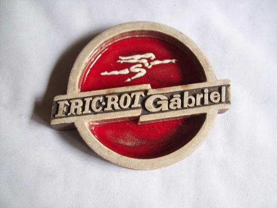 Cenicero Vintage . Cerámica Publicitario . *fric-rot Gábriel