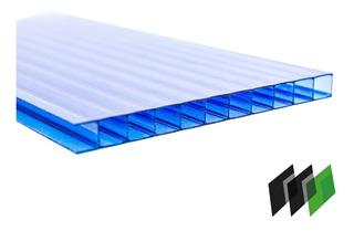 Chapa Policarbonato Alveolar Cristal 2,10x6,00 4milimetros