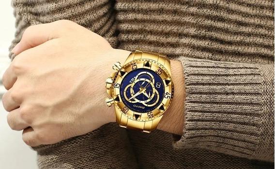 Relógio Masculino Luxo Quartzo À Prova D