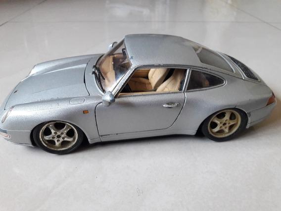 Miniatura Porsche Carrera 911 Bburago 1:18 Leia Descrição