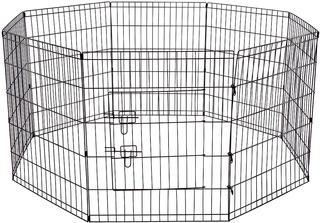 Oxgord Corral Para Ejercicios, Plegable, De Alambre, 8 Panel
