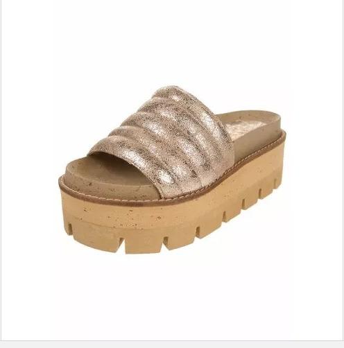 Zapatos Sandalias Marca Liotta Plataforma Dorados