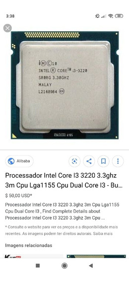 Processador I3 3220 3.30ghz Lga 1155