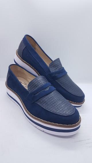 Zapatos Colombianos Para Damas Mocasines Color Azul Marino