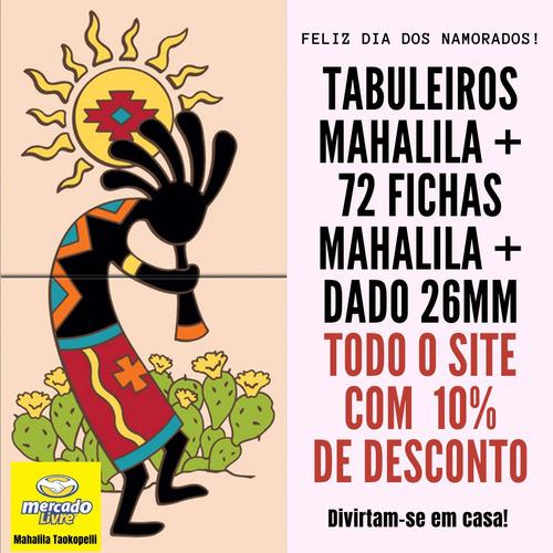 Kit Tab Mahalila M Linho+72 Fichas Mahalila+dado26mm