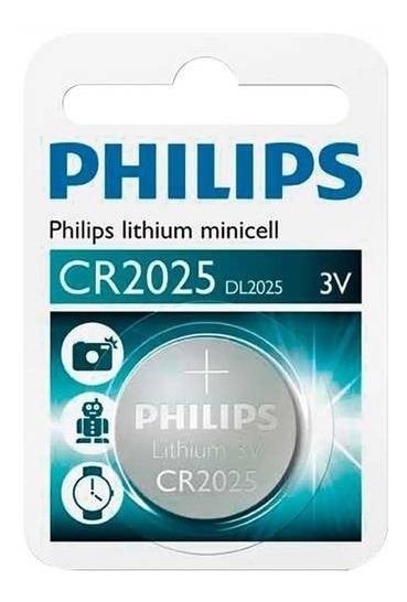 Bateria Pilha Moeda 3v Philips Lithium Minicell Cr2025