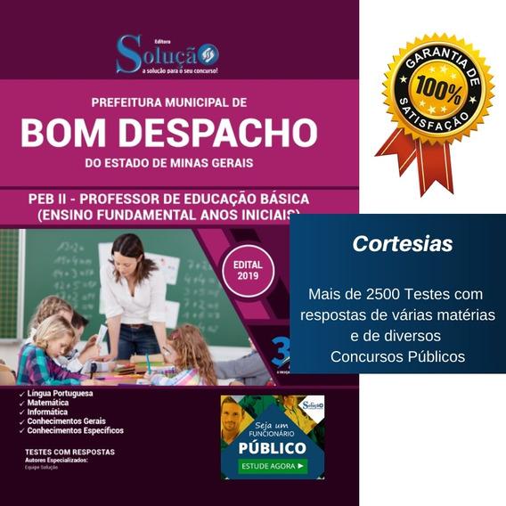 Apostila Bom Despacho Mg - Professor 2 Ensino Fundamental