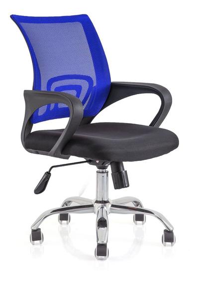 Cadeira Escritório Wave Com Encosto Em Tela