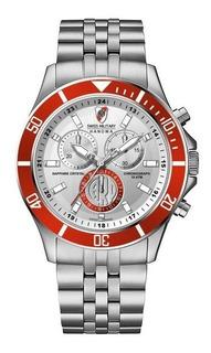 Reloj Swiss Military River Plate Crono + Lapicera A.oficial