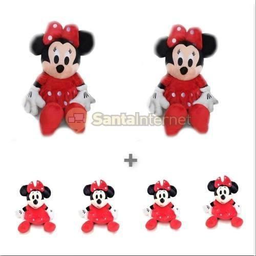 Kit 2 Minnie Vermelha De 50 Cm + 4 Minnie De 27 Cm