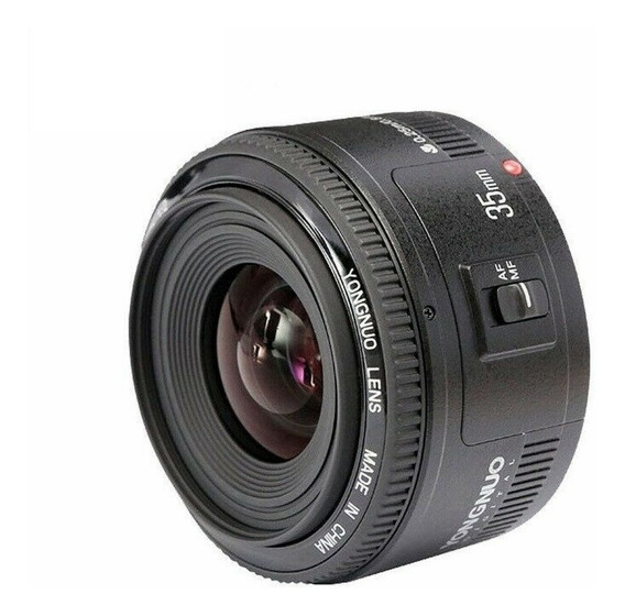 Lente Yongnuo 35mm F2 P/canon Ff Aps-c Filtro Uv Kit Limpeza