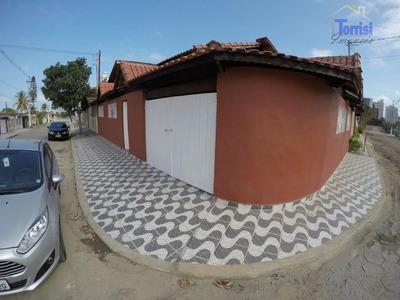 Casa Em Praia Grande, 02 Dormitórios, Com Churrasqueira No Balneário Maracanã Ca0060 - Ca0060