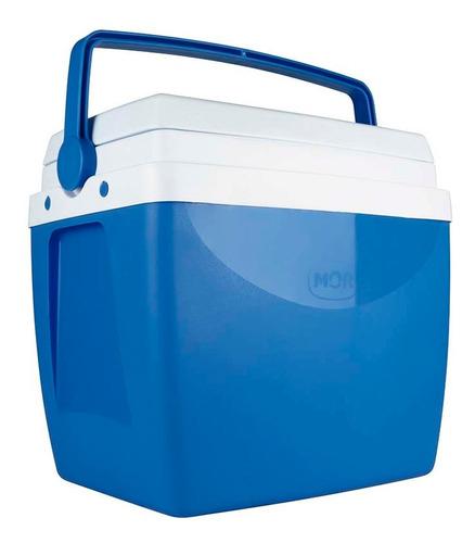 Caixa Térmica Cooler Azul 26 L Mor Até 35 Latinhas De 350ml