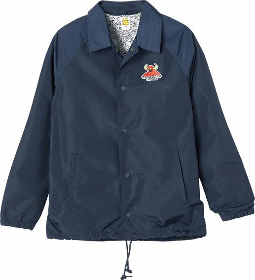 Chaqueta Toy Machine X Rvca, Mod. Coaches Jacket, Color Nvy.