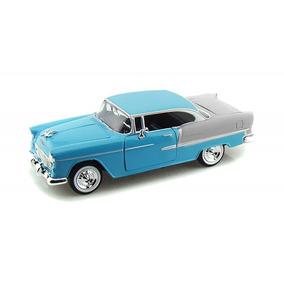 Miniatura Chevy Bel Air 1955 Azul 1:24 - Motormax