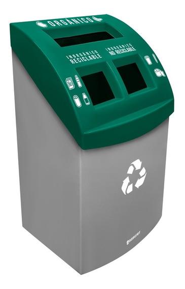 Bote Contenedor Basura Grande Ecológico P/ Reciclaje Triple