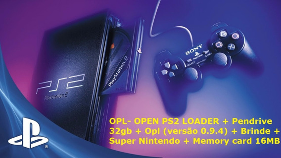Pendrive 32gb + Opl (versão 1564 Atual) + Brinde Mega Drive