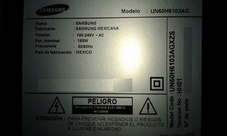 Tv Samsung Un60h6103ag Desarme - Mainboard - Tiras Led