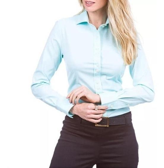 Camisa Social Dudalina Feminina - Verde Claro