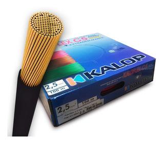 Cable Unipolar Kalop Normalizado Iram 2.5mm Flexible Cat.5