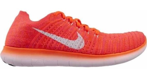 Tenis Nike Free Rn 4mx Flyknit Híper Naranja Original