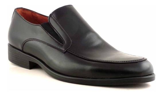 Zapato Hombre Cuero Negro Vestir Goma Briganti - Hccz01095